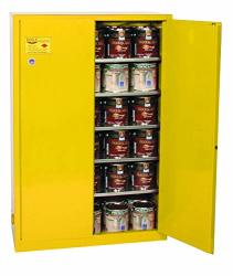 Eagle YPI32X Safety Cabinet For Paint And Ink 2 Door Manual Close 40 Gallon 44HEIGHT 43WIDTH 18DEPTH Steel Yellow