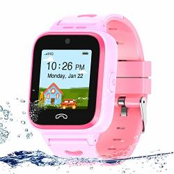 Uoto 4G Kids Smartwatch Phone With Sim Card Wifi Lbs Gps Tracker Watch Waterproof For Children With Pedometer remote MONITORING GAME FACETALK 2-WAY Call sos Kids Girls Toys Age