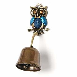 Anahbell Shopkeepers Door Bell Store Entry Door Chime Home Decoration - Owl Spring Bell Blue