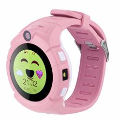 Children Smartwatch Touch Screen Kids Smartwatch Q360 Anti Lost Round Touch Screen Kids Smartwatch Supports Wifi Gps Take Photos Perfect For Children Use Pink