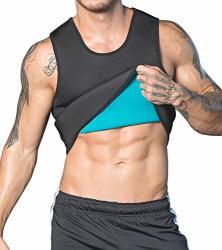 65f059dba DoLoveY Men Neoprene Sauna Suit Weight Loss Sweat Vest Hot Corset Workout  Body Shaper Waist Trainer