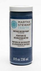 Plaid Inc Martha Stewart Crafts 33526 Martha Stewart Vintage Decor Matte Chalk Sailor Blue 8 Oz Paint