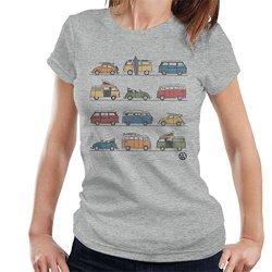 Volkswagen Vans And Beetles Women's T-Shirt Heather Grey