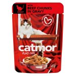 Catmor - Adult Cat Food Chuncks In Gravy Beef Pouch 85G