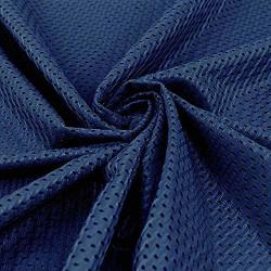 "Pico Textiles Navy Athletic Football Mesh Jersey Fabric - 58-60"" Wide - Style 734716 - Sold By The Yard"
