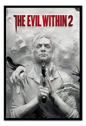 IPosters The Evil Within 2 Poster Magnetic Notice Board Black Framed - 96.5 X 66 Cms Approx 38 X 26 Inches