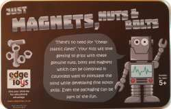 Edge Toys' Just Magnets Nuts & Bolts Tin