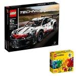 Lego Technic Porsche 911 Rsr Bundle - 42096 & Free 11001