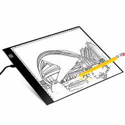 Animation X-ray Viewing LED Light Box Pad A4 L4S Ultra Thin 5mm 17.6 Inch New Improved Structure Touch Dimmer Portable Diamond Painting Light Pad Board Box USB Cable for Drawing Sketching