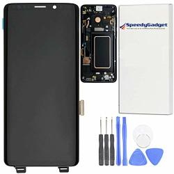 Midnight BLACK Frame For Samsung Galaxy S9 Amoled Lcd Digitizer Screen Touch Assembly Display Replacement Part 5.8 Inch By Speed