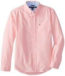 Tommy Hilfiger Boys 8-20 Tommy Hilfiger Big Boys' Long Sleeve Classic Woven Pink Lemonade Small