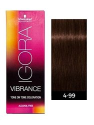 f1bf961877 Schwarzkopf Professional Igora Vibrance Demi-permanent Tone On Tone Hair  Color 4-99 Medium Brown Violet Extra