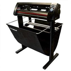 """Uscutter New 34"""" Vinyl Cutter Laserpoint 3 LP3 With Arms Contour Cutting Stand And Basket"""