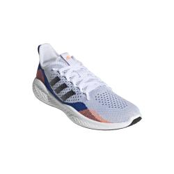 Adidas Men's Fluidflow 2.0 Running Shoes - White black royal Blue