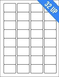 OfficeSmartLabels 1.75 X 1.25 Inch Rectangle Labels For Laser Inkjet Printers 32 Labels Per Sheet White 150 Sheets 4800 Labels
