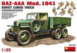 USA Miniart 35173 Soviet Wwii Gaz-aaa Cargo Truck Mod. 1941 1 35 Scale World War II Military Miniatures Series Plastic Vehicle Model Kit