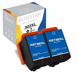 Run Star 302XL 2 Black Remanufactured Ink Cartridge Replacement For Epson T302XL T302XL120 For Expression Premium XP-6000 XP-6100 Printers