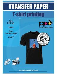 """Ppd Inkjet Iron-on Dark T Shirt Transfers Paper 11X17"""" Pack Of 10 Sheets PPD-107-10"""