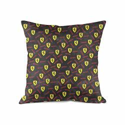 SATIN Sdfjkoinj Pillowcase Ferrari-official-site-car-black- Decorative Pillow Covers Bed Throw Pillow Covers Decorative 18X18 In