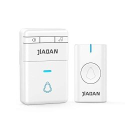 Wireless Doorbell Wireless Door Chime Kit 1000FT Range Include Plug-in Receivers Waterproof Transmitter. Adjustable Volume And LED Flash 58 Melodies. White