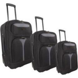 MARCO Soft Case Luggage Set Black-grey