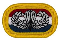 """20TH Special Forces Group Oval - W Basic Airborne Wings Embroidered Patch 2 1 4"""" X 1 1 2"""