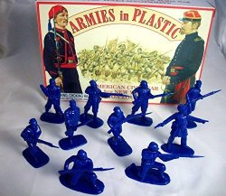 Armies In Plastic Civil War 9TH New York Zouaves 20 Figures In Dark Blue Offered By Classic Toy Soldiers Inc