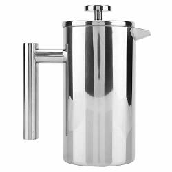 Alinory Coffee Maker Double Walled Stainless Steel Coffee Maker French Press Tea Pot With Filter 1000ML