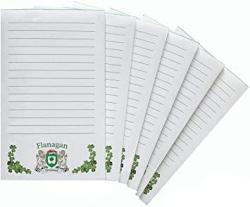 USA Flanagan Irish Coat Of Arms Notepads - Set Of 6
