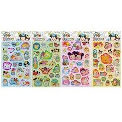 Disney Tsum Tsum 3D Sticker Package 4PCS Set : Mickey Minnie Donald Pooh Dumbo Frozen