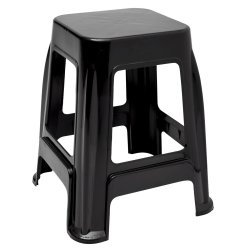 Miss Molly - Black Plastic Stool