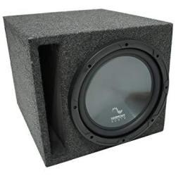 "Universal Car Stereo Slotted S Port Single 15"" Harmony R154 Sub Box Enclosure"