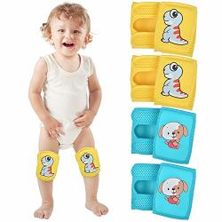 Ium Baby Knee Pads For Crawling 4 Pairs Adjustable Baby toddler Knee Pads Crawling Pads Protective Knee Pads Leg Warmer Safety Protective Cover Toddlers Learn