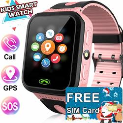 Included Sim Card Kids Smart Watch - Gps Tracker Kids Smart Watches For Boys Girls With Two-way Calls Sos Anti-lost Real Time Monitor Child