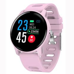 S08 1.3 Inch Ips Color Screen IP68 Waterproof Smart Watch Support Call Reminder heart Rate Monitoring blood Pressure Monitoring sleep Monitoring Pink