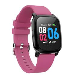 CV06 1.3 Inch Tft Color Screen Tpu Watch Strap Smart Bracelet Support Call Reminder Heart Rate Monitoring blood Pressure Monitoring Sleep Monitoring blood Oxygen Monitoring Magenta