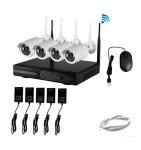 HD 4 Channel 720P Wireless IP Camera CCTV Nvr Kit