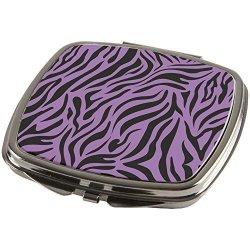 Animal World Zebra Print Purple Compact