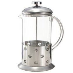 Stainless Steel Glass Teapot Cafetiere French Coffee Tea Filter Press Plunger