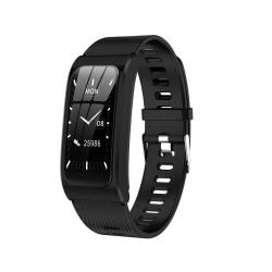 AK12 1.14 Inch Ips Color Screen Smart Watch IP68 Waterproof Silicone Watchband Support Call Reminder heart Rate Monitoring blood Pressure Monitoring sleep Monitoring predict Menstrual Cycle Intelligently Black