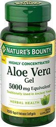 Nature's Bounty Aloe Vera Gel 5 000 Mg 100 Softgels