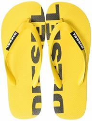 Diesel Men's Briian Sa-briian - Sandals Sandal Freesia Yellow black 12.5 M Us