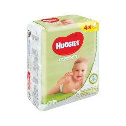 Huggies Baby Wipes 4 X 56'S Natural Care