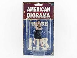 USA American Diorama 38186 Collectible Miniature Car Beige Black