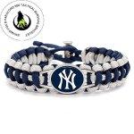 Swamp Fox Premium Style New York Yankees Baseball Team Adjustable Paracord Bracelet