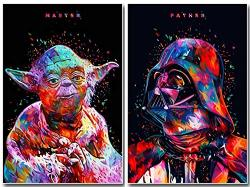 Two Packs Star Wars Full Drill Diamond Painting 5D Diy Diamond Embroidery Cross Stitch Rhinestone Art Craft Classic Movie Pictures Mosaic Painting Home Wall