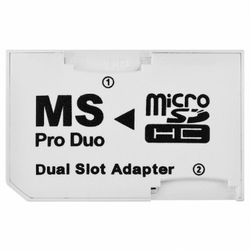 Micro Sd To Ms Pro Duo Dual Slot Adapter