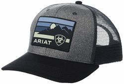 Ariat Sunset Logo Patch Snapback Cap Grey One Size