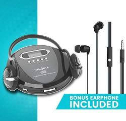 Portable Cd Player Headphone & Earphone New Included - Skip Protection For Cd Cd-r Cd-rw Black charcoal