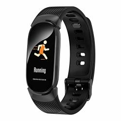 C-xka Fitness Tracker Activity Tracker Watch With Heart Rate Monitor Smart Bracelet With Sleep Monitor Waterproof Smart Bracelet For Android And Ios Color : Black